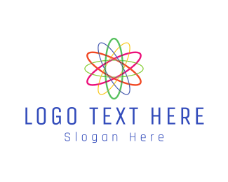 Atom - Colorful Atom logo design