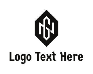 G - Hexagon Badge Letter N & G logo design