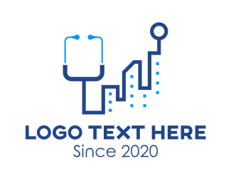 Doctor - City Medical Stethoscope logo design