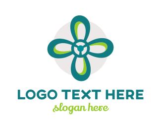 Flower Shop - Flower Propeller logo design