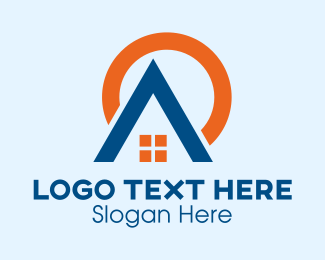 Home Listing - Home Construction Roofing  logo design