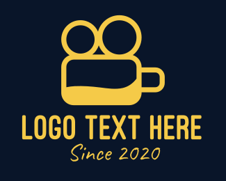 Videomaker - Yellow Beer Vlogger logo design