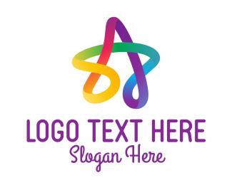 Childrens - Colorful Scribble Star logo design