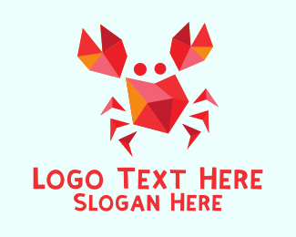 Cancer - Red Crab logo design