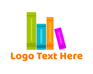 Notebook - Colorful Books logo design