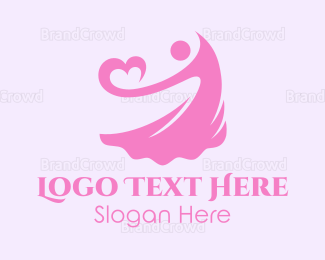 Lady - Lady Heart logo design