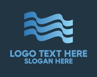 Swim - Water Flag logo design