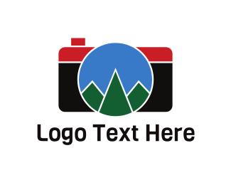 Photo Journalist - Geometric Mountain Photography logo design