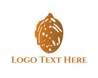 White And Brown - Brown Almond logo design