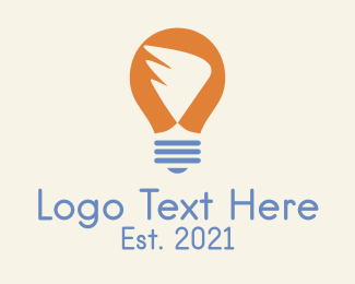 Think Tank - Wing Light Bulb logo design