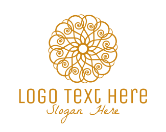 Ornamental - Golden Luxurious Ornamental Pattern logo design