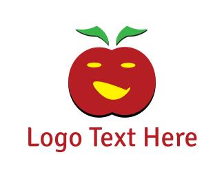 Crisp - Apple Face logo design