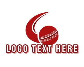 Cricket - Red Cricket Ball logo design