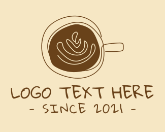 Brewed Coffee - Artisanal Hipster Coffee Cafe logo design