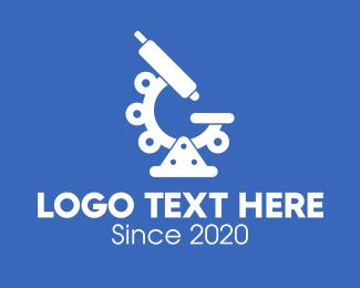 Science - Science Laboratory Microscope logo design