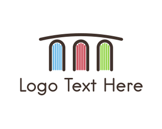 Learn - Book Bridge logo design