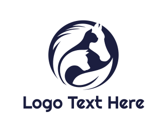 Animal Shelter - Circle Animal Outline logo design