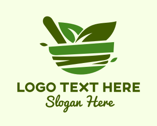 Salad - Healthy Herb Salad logo design