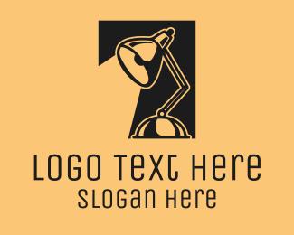 Office Supplies - Black Desk Lamp logo design