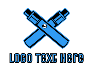 Vaper - Blue Mechanical Vape logo design