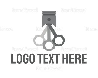 Drag Racing - Gray Piston Racing logo design