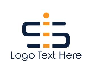 Letter I - S & I logo design
