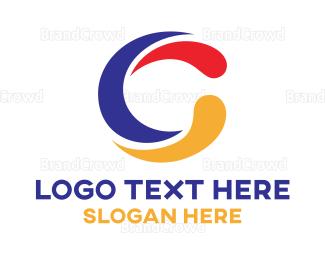 Advertising - Colorful C Swoosh logo design