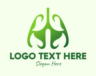 Pulmonary - Green Natural Lungs logo design