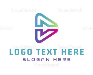 Video Player - Abstract Media logo design