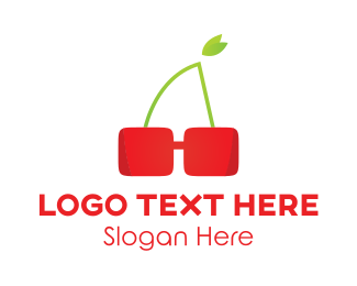 Red Sunglasses - Red Cherry Glasses logo design