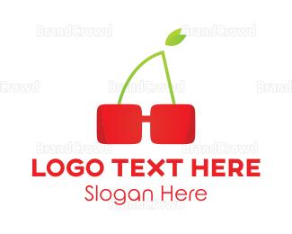 Sunglasses - Cherry Glasses logo design