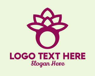 Jewelry Store - Violet Lotus Ring  logo design