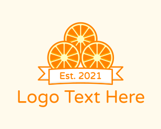 Orange Farm - Orange Slices Design logo design