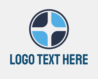 Propeller - Blue Disc Blades logo design