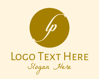 Lp - Gold L & P Monogram  logo design