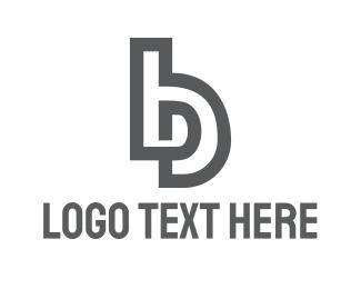 Distorted - Grey B Outline logo design