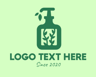 Handwashing - Green Organic Lotion logo design