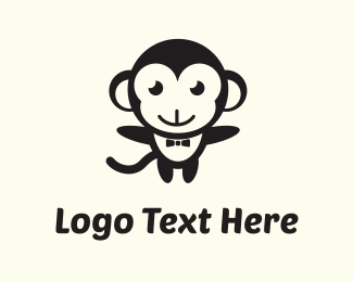 Orangutan - Black Monkey logo design