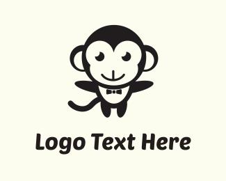 Ape - Black Monkey logo design