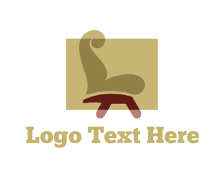 Couch - Brown Chair logo design