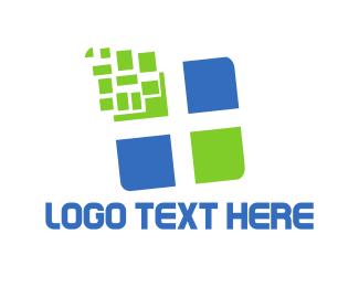 Cross - Tech Cross logo design