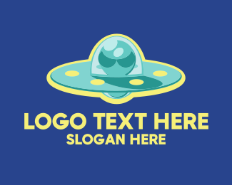Alien - Alien UFO Spaceship logo design