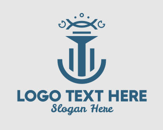 Symbols - Abstract Blue Pillar Symbols logo design
