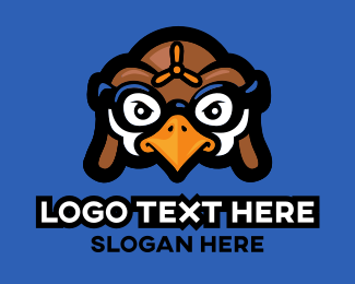 Pilot Bird Cartoon Logo