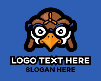 Bird - Pilot Bird Cartoon logo design