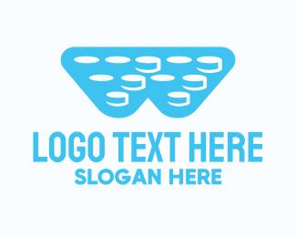 Transfer - Bubble Wrap Letter W logo design