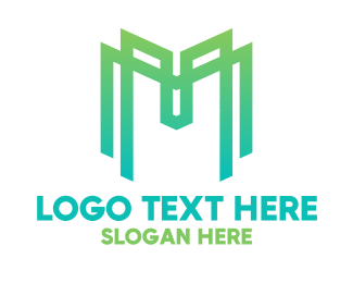 Gaming - Green Gaming Letter M logo design