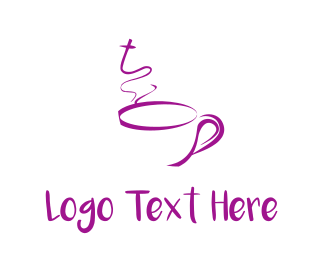 Latte - Purple Mug logo design