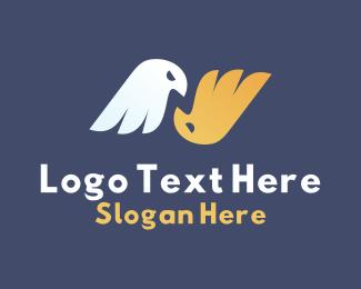 N - Twin Eagle Letter N logo design