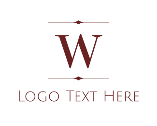 Expensive - Maroon W logo design